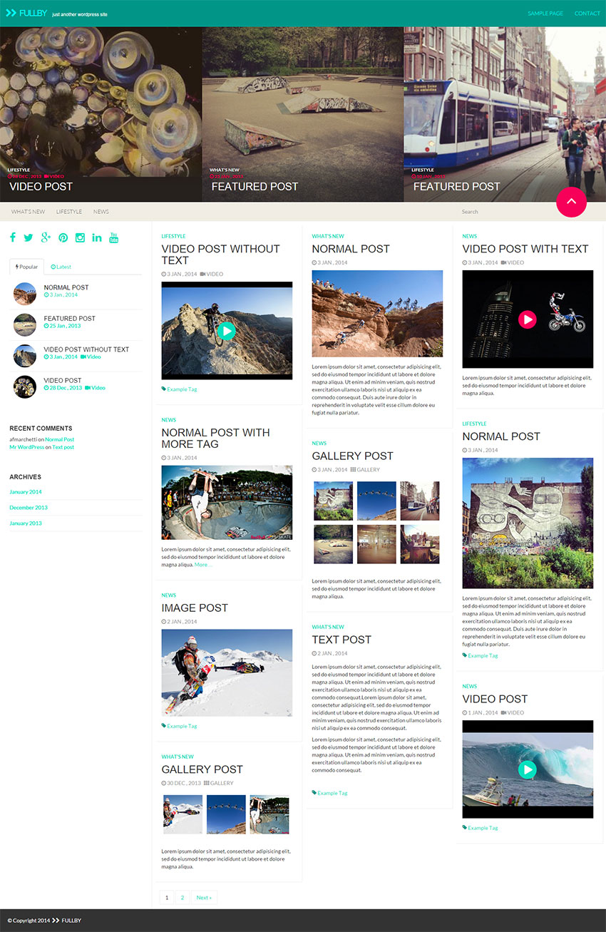 Fullby-Wordpress-Theme